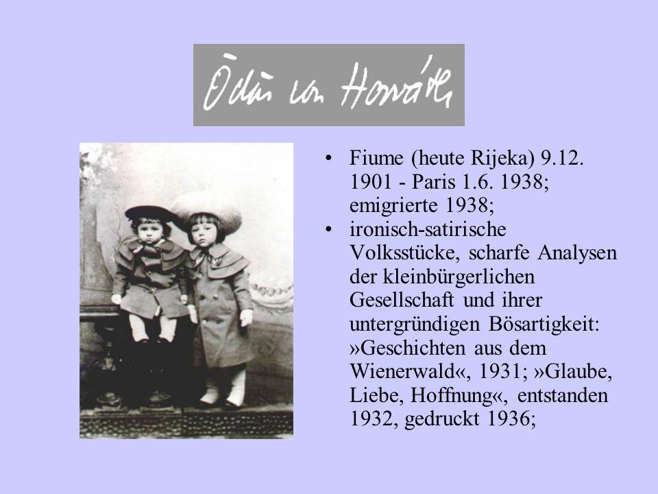 Fiume (heute Rijeka) 9.12. 1901 - Paris 1.6. 1938; emigrierte 1938;