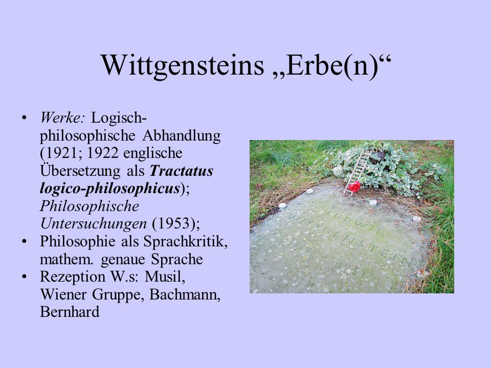 """Wittgensteins """"Erbe(n)"""