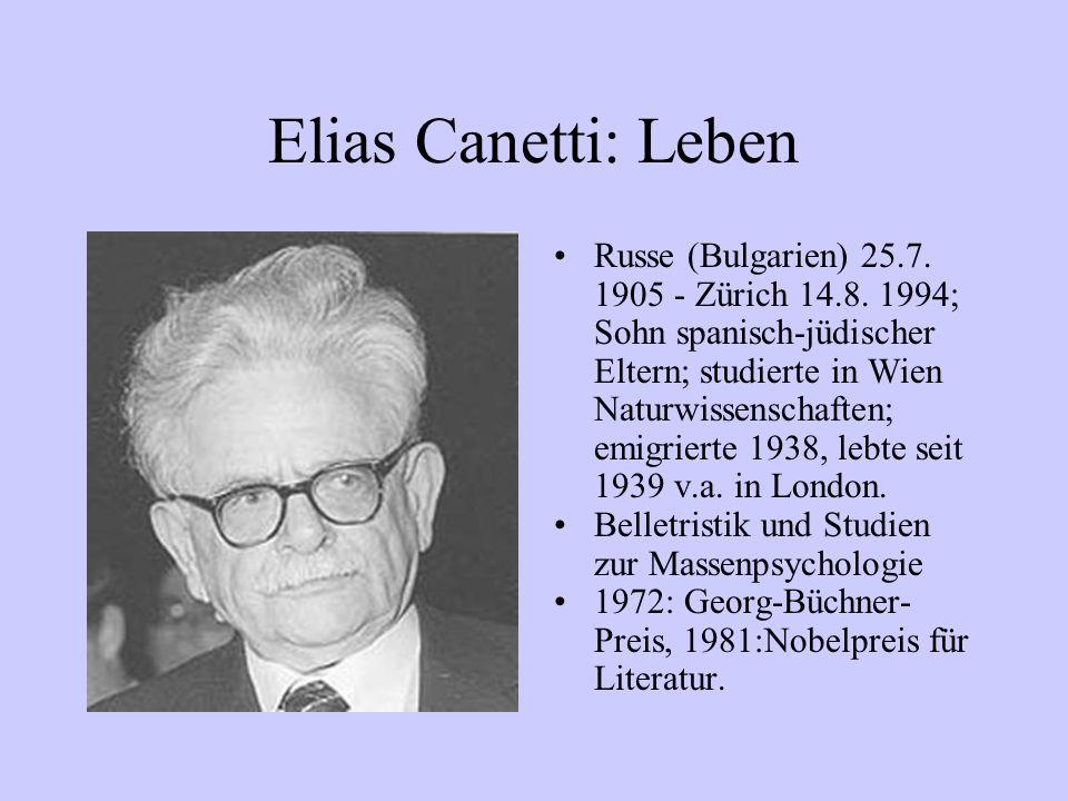 Elias Canetti: Leben