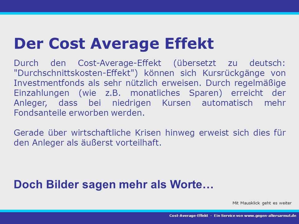 Der Cost Average Effekt