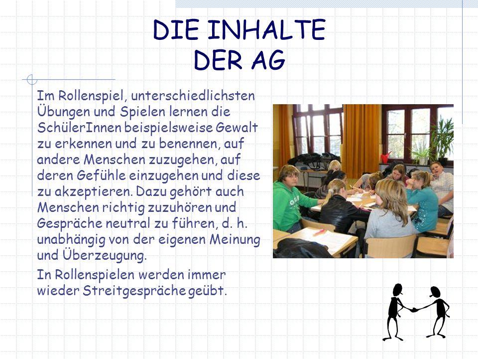 DIE INHALTE DER AG