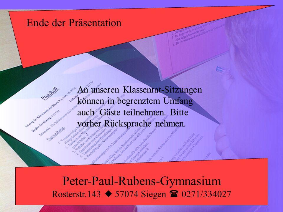 Peter-Paul-Rubens-Gymnasium Rosterstr.143  57074 Siegen  0271/334027