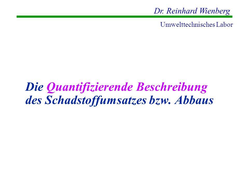 Die Quantifizierende Beschreibung des Schadstoffumsatzes bzw. Abbaus
