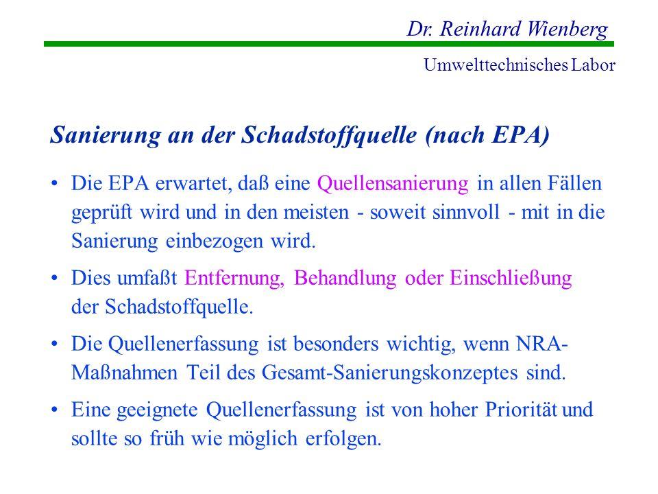 Sanierung an der Schadstoffquelle (nach EPA)