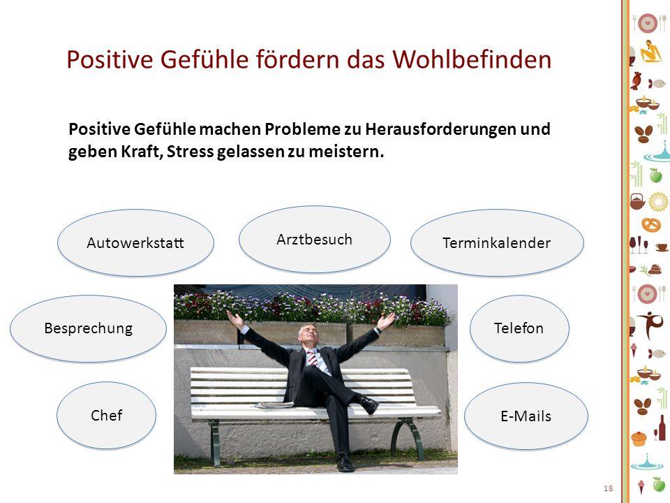 Positive Gefühle fördern das Wohlbefinden