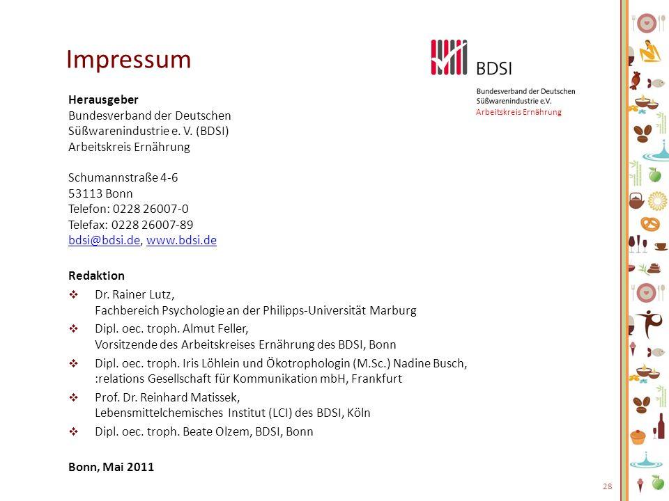 Impressum Herausgeber Bundesverband der Deutschen