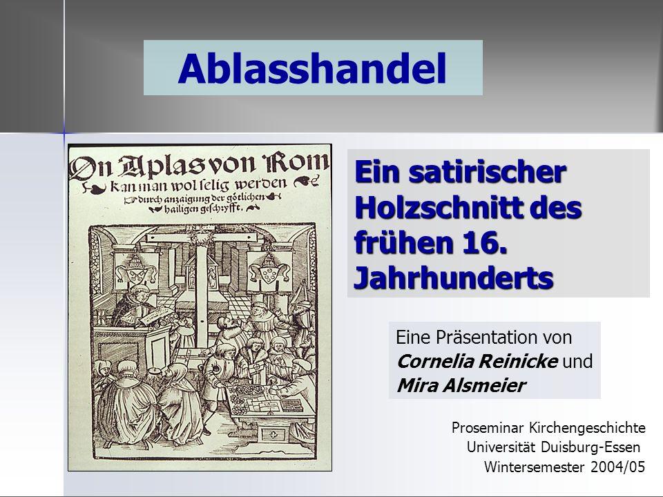 Ein satirischer Holzschnitt des frühen 16. Jahrhunderts