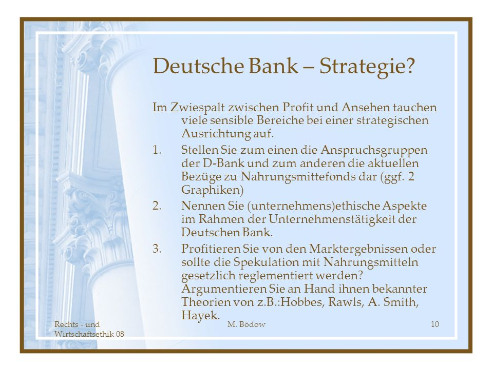 Deutsche Bank – Strategie