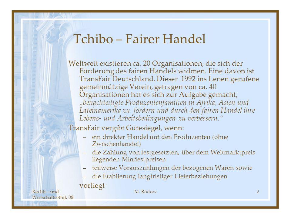 Tchibo – Fairer Handel