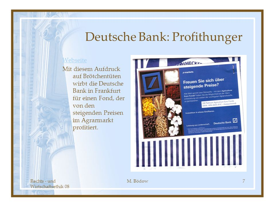 Deutsche Bank: Profithunger