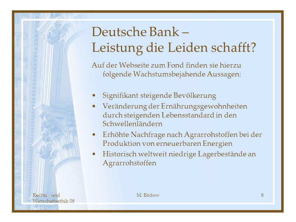 Deutsche Bank – Leistung die Leiden schafft