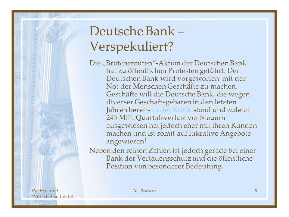 Deutsche Bank – Verspekuliert