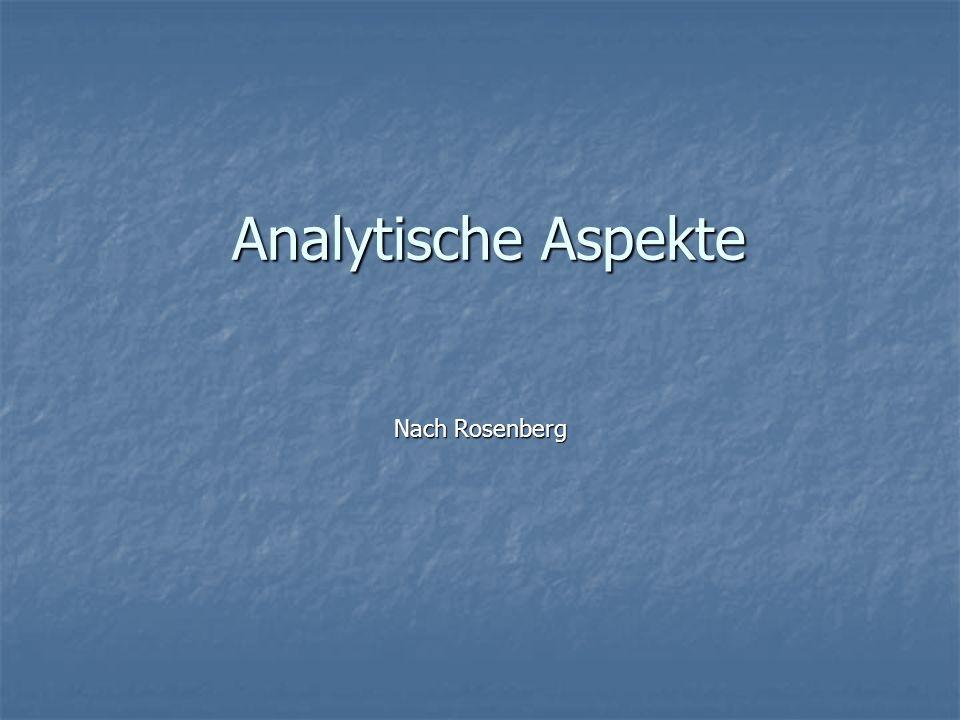 Analytische Aspekte Nach Rosenberg