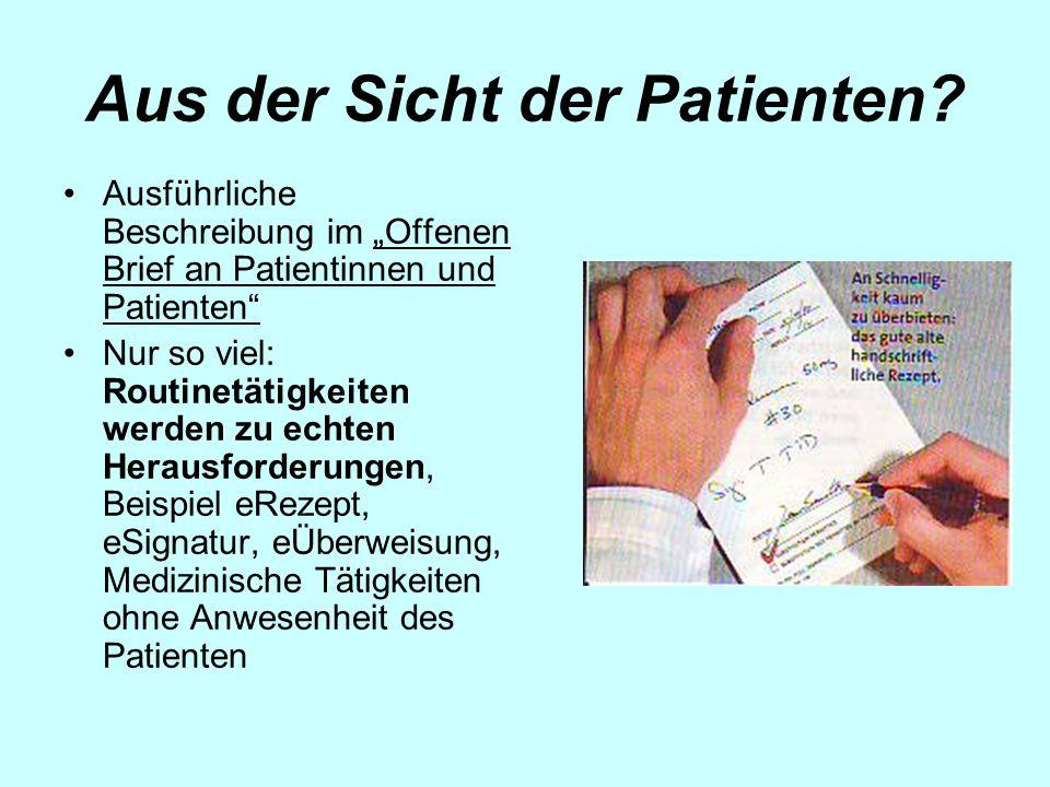 Aus der Sicht der Patienten