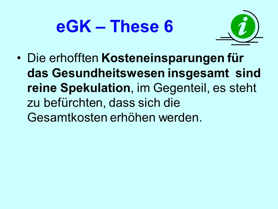 eGK – These 6