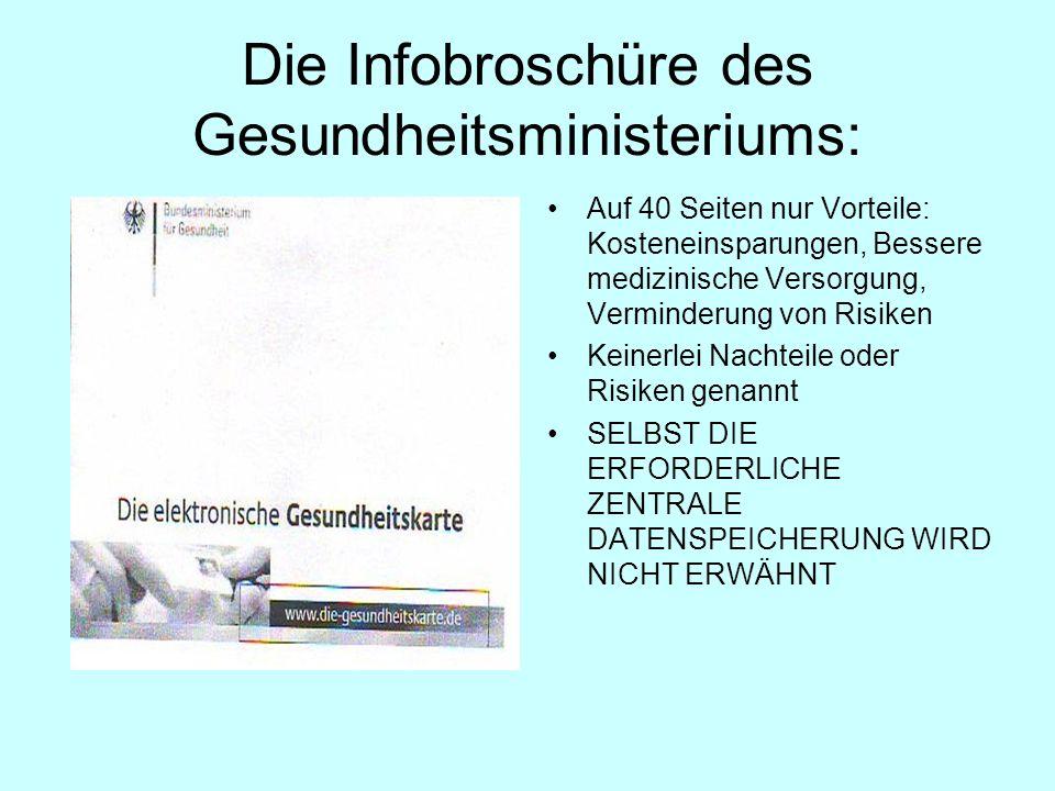 Die Infobroschüre des Gesundheitsministeriums: