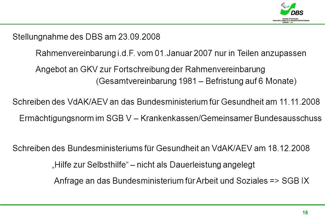 Stellungnahme des DBS am 23.09.2008