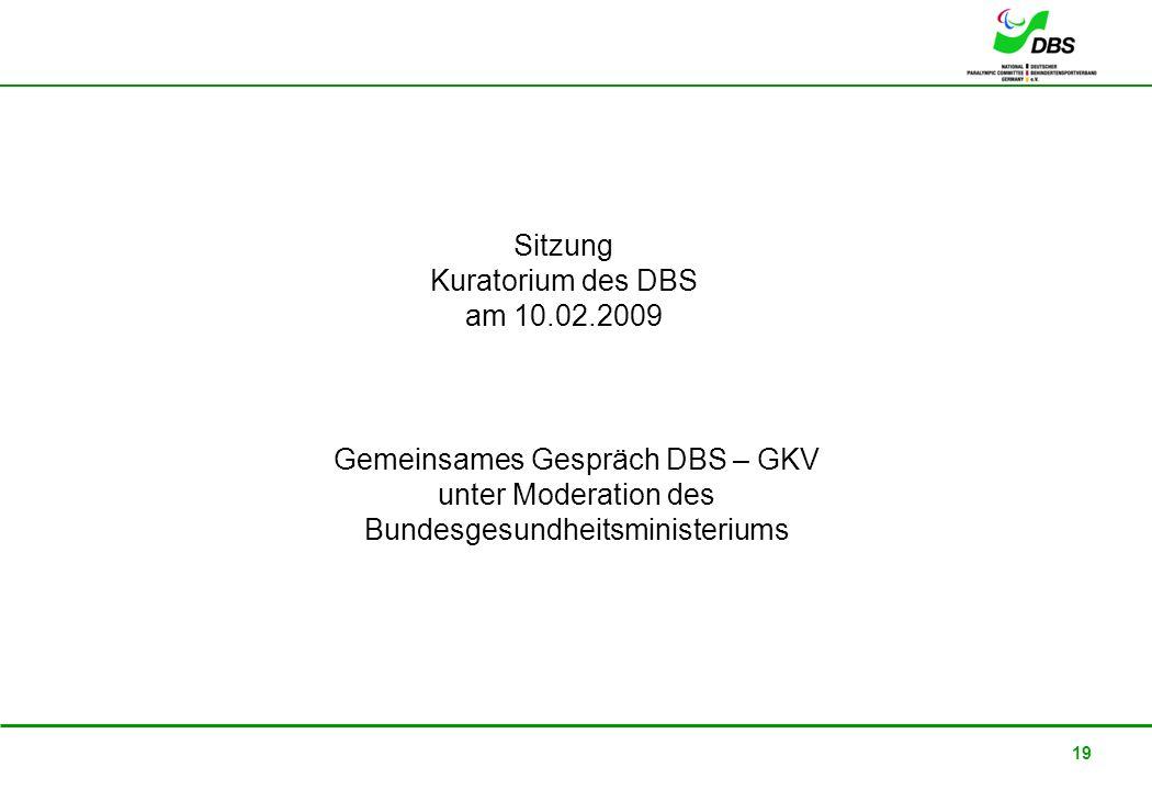 Gemeinsames Gespräch DBS – GKV