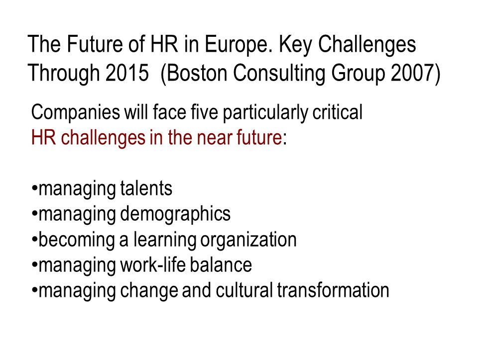 The Future of HR in Europe