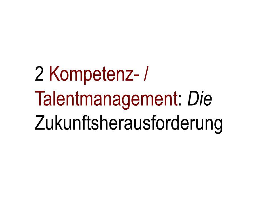 2 Kompetenz- / Talentmanagement: Die Zukunftsherausforderung