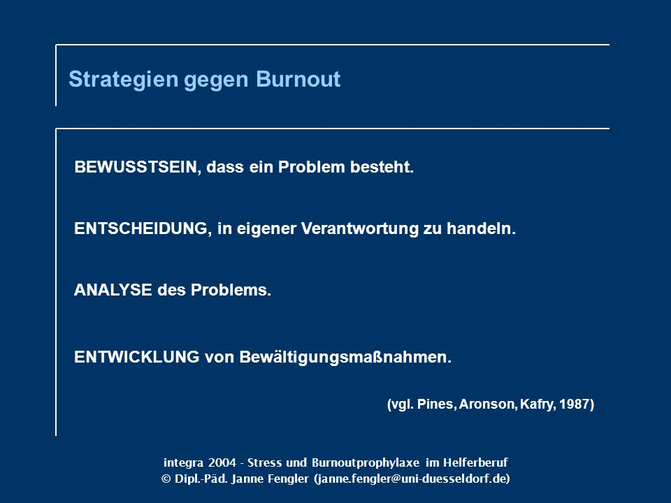 Strategien gegen Burnout