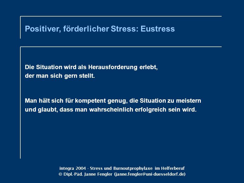 Positiver, förderlicher Stress: Eustress