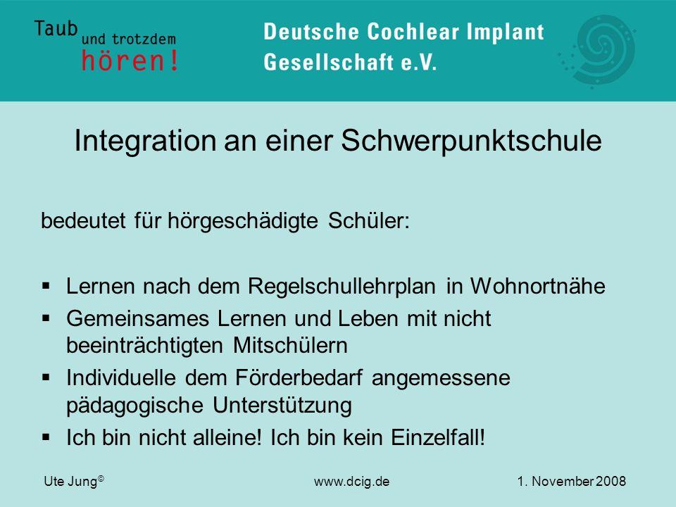 Integration an einer Schwerpunktschule