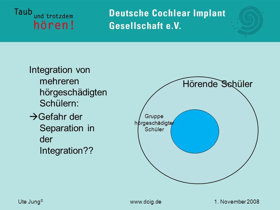 Integration von mehreren hörgeschädigten Schülern: Gefahr der Separation in der Integration