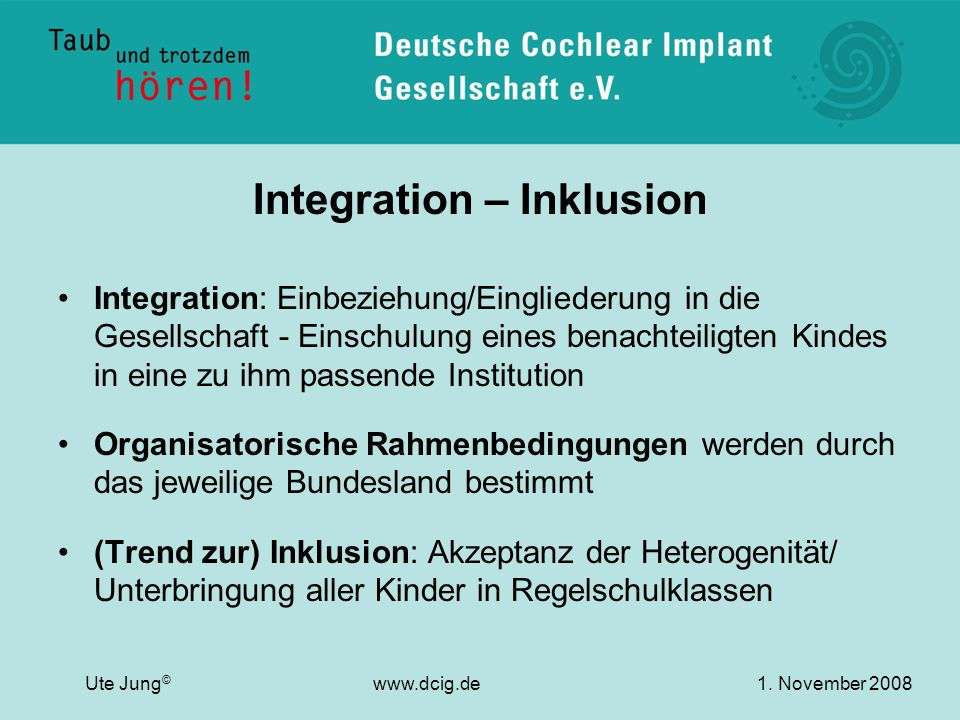 Integration – Inklusion