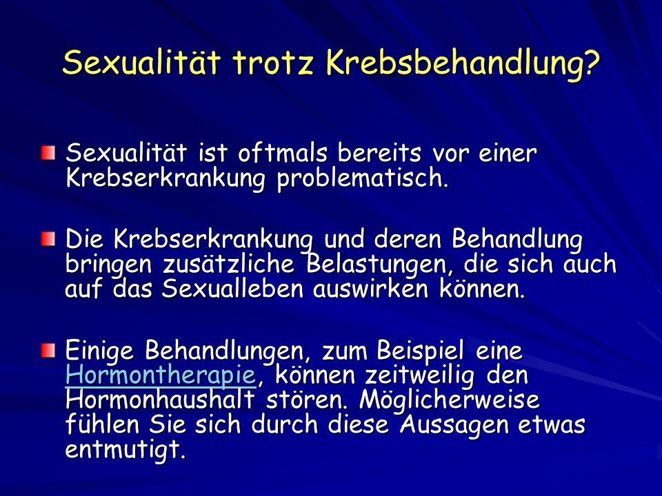 Sexualität trotz Krebsbehandlung