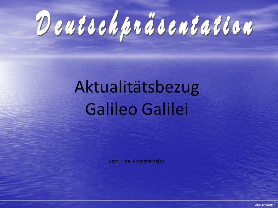 Aktualitätsbezug Galileo Galilei