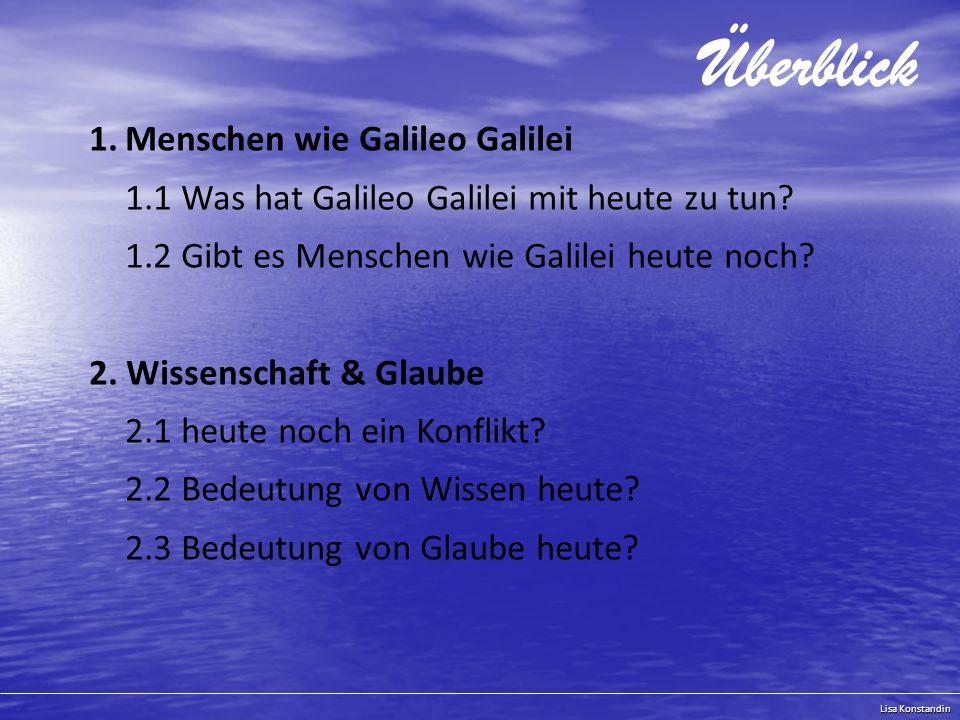 Überblick Menschen wie Galileo Galilei