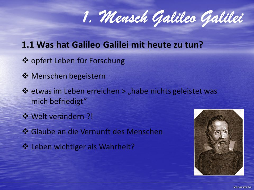 1. Mensch Galileo Galilei