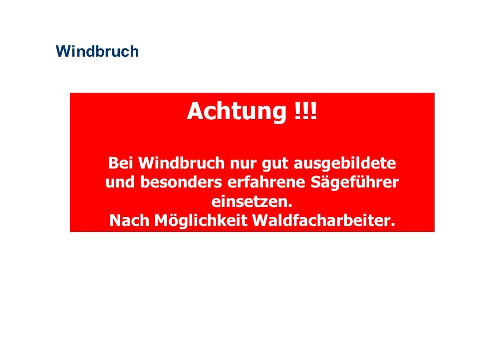 Achtung !!! Windbruch Bei Windbruch nur gut ausgebildete