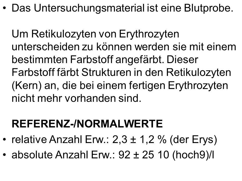 relative Anzahl Erw.: 2,3 ± 1,2 % (der Erys)