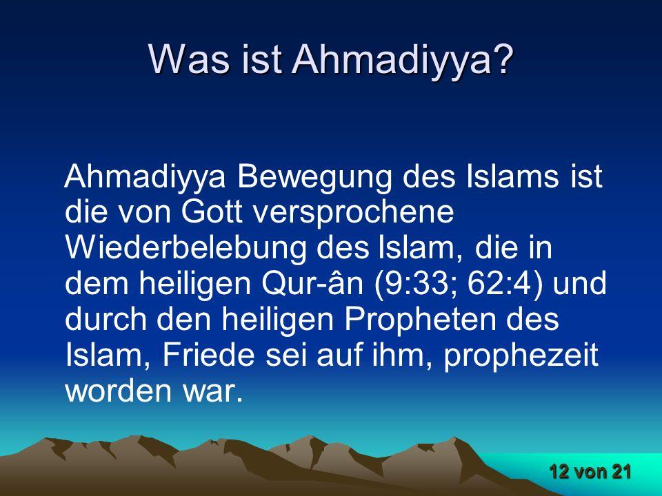 Was ist Ahmadiyya