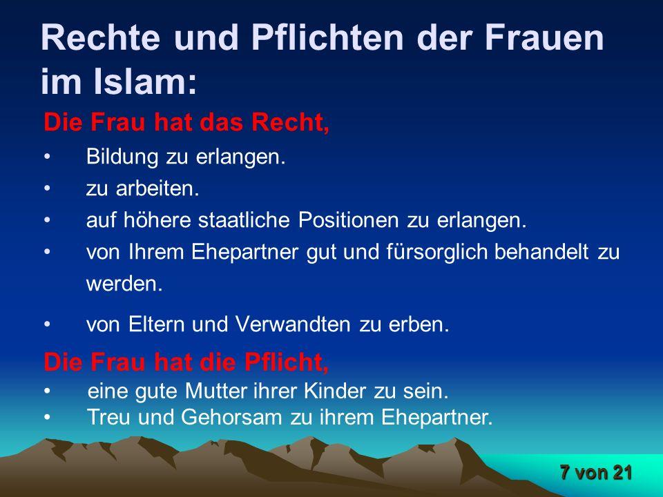 Rechte und Pflichten der Frauen im Islam: