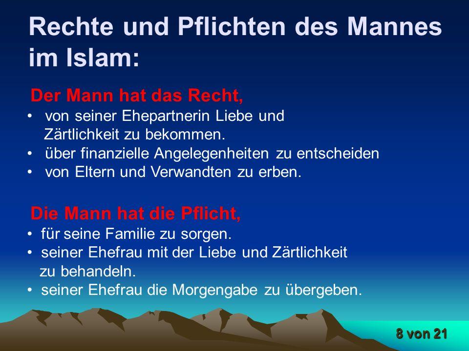 Rechte und Pflichten des Mannes im Islam: