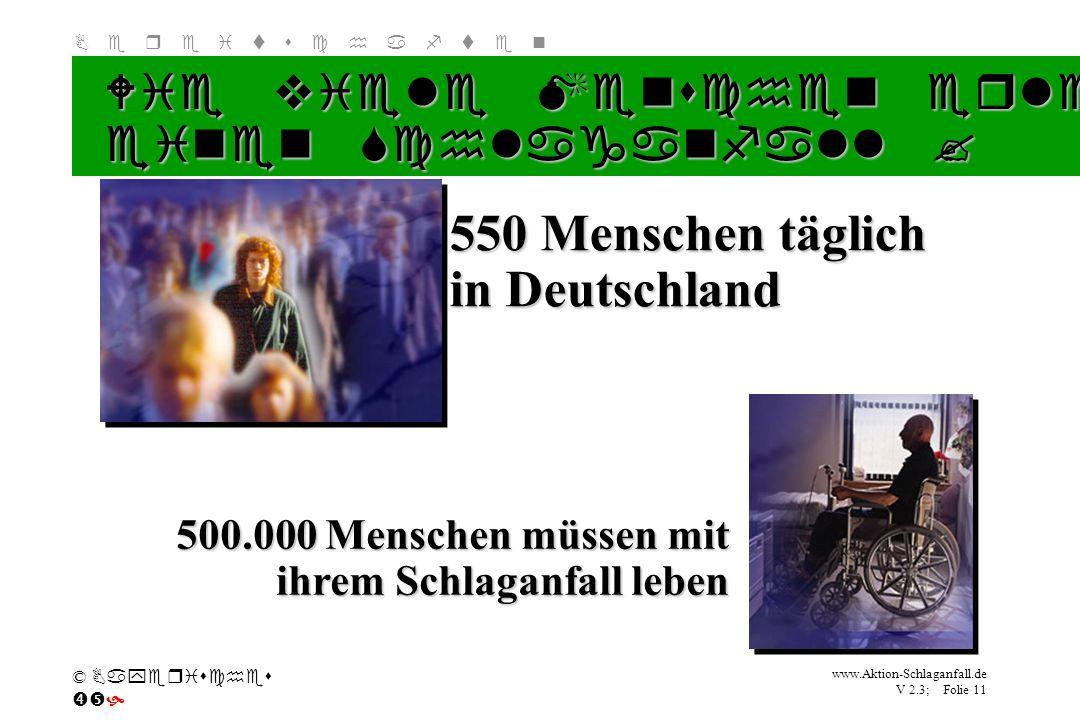 550 Menschen täglich in Deutschland