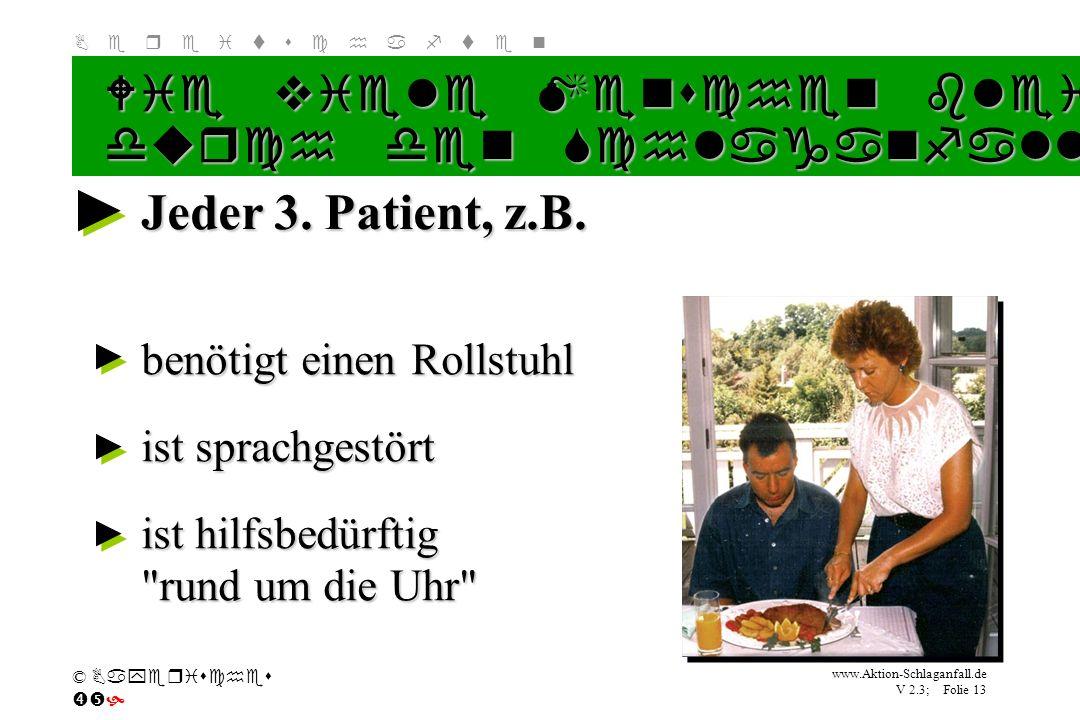 Jeder 3. Patient, z.B. Wie viele Menschen bleiben lebenslang behindert