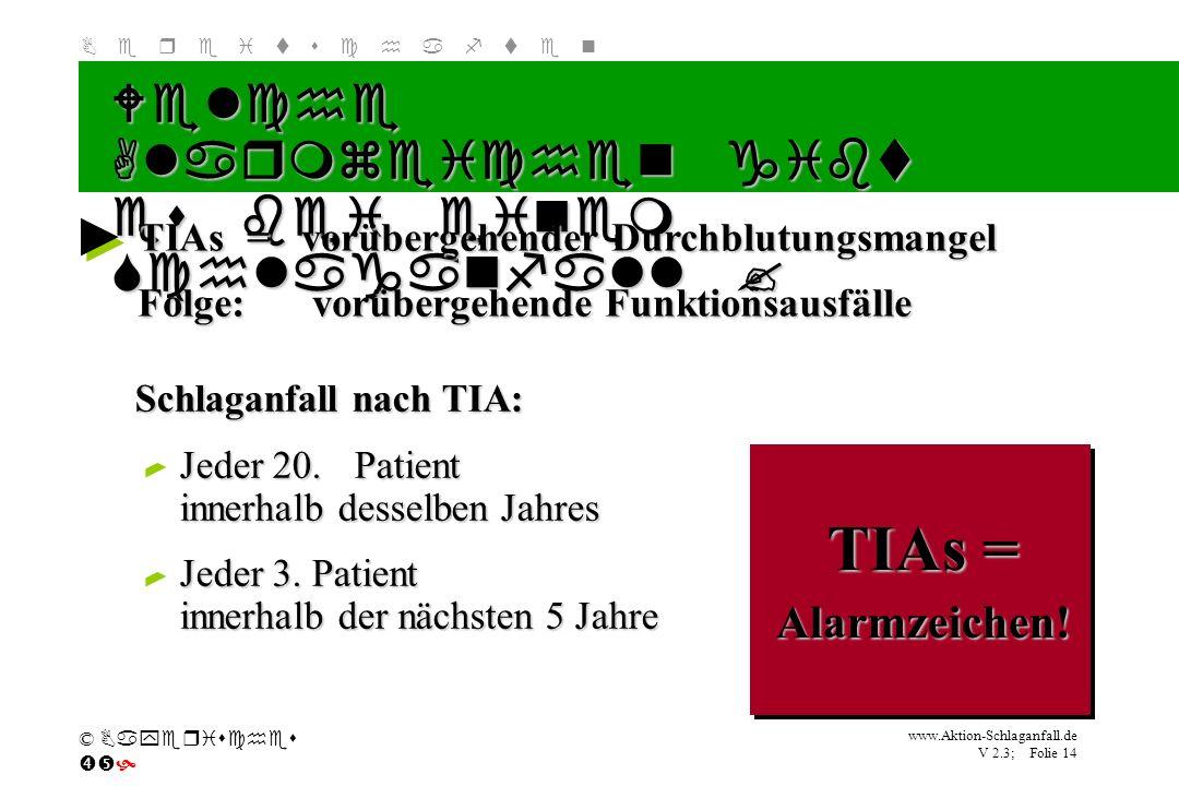 TIAs = Welche Alarmzeichen gibt es bei einem Schlaganfall