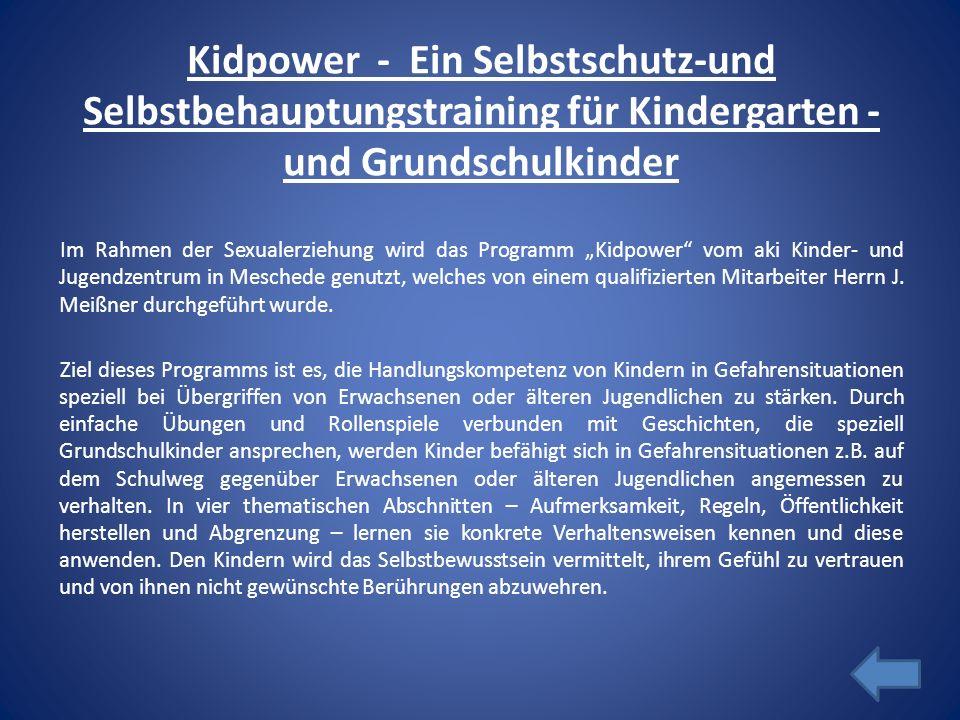 Kidpower - Ein Selbstschutz-und Selbstbehauptungstraining für Kindergarten -und Grundschulkinder