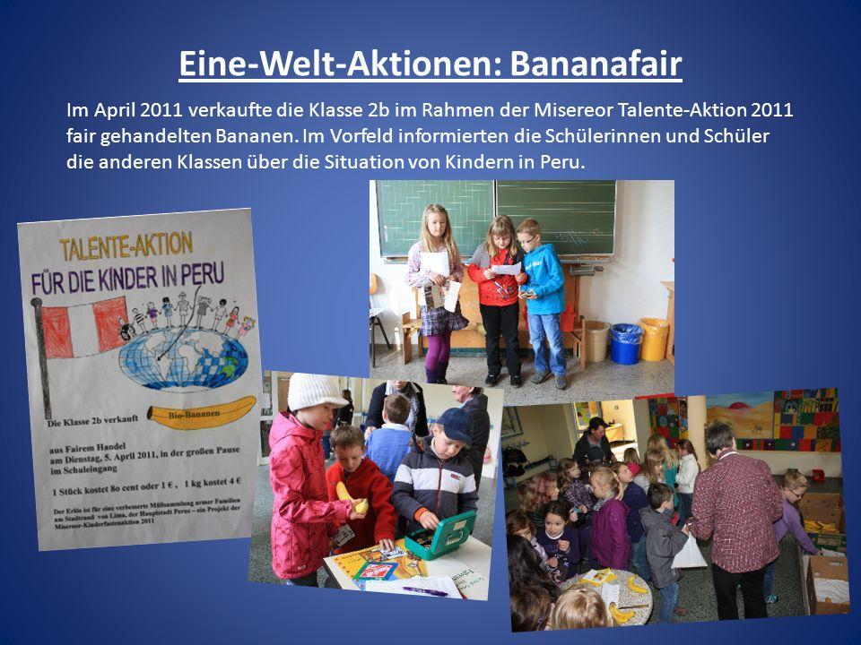 Eine-Welt-Aktionen: Bananafair