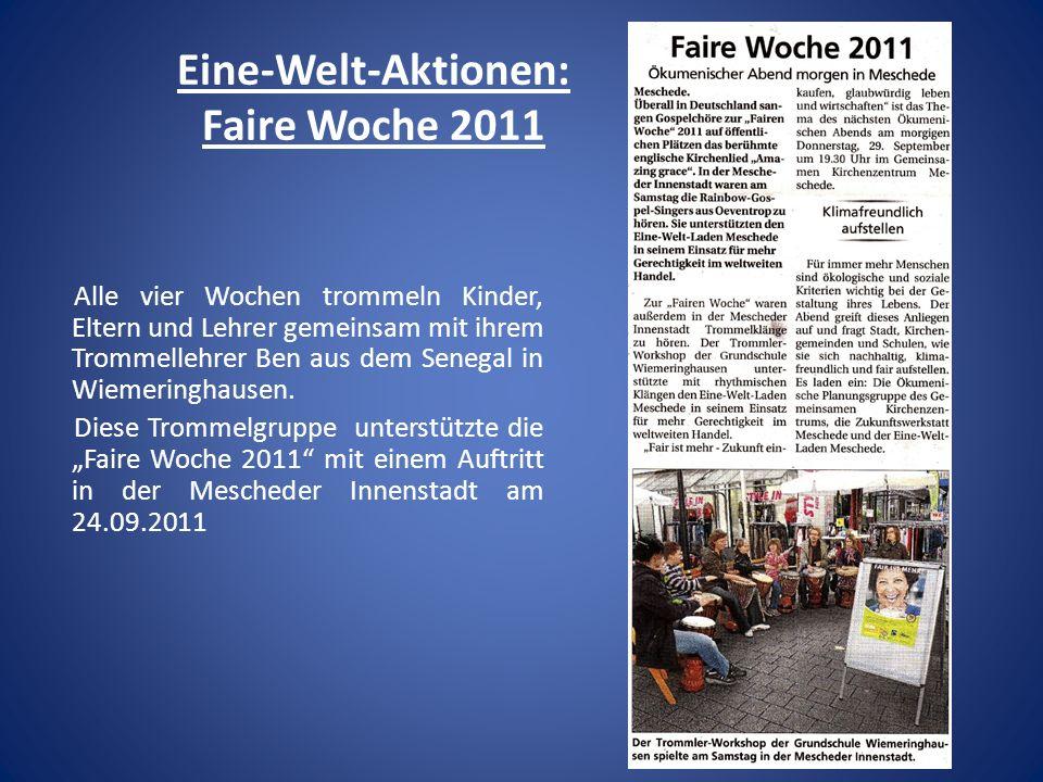 Eine-Welt-Aktionen: Faire Woche 2011