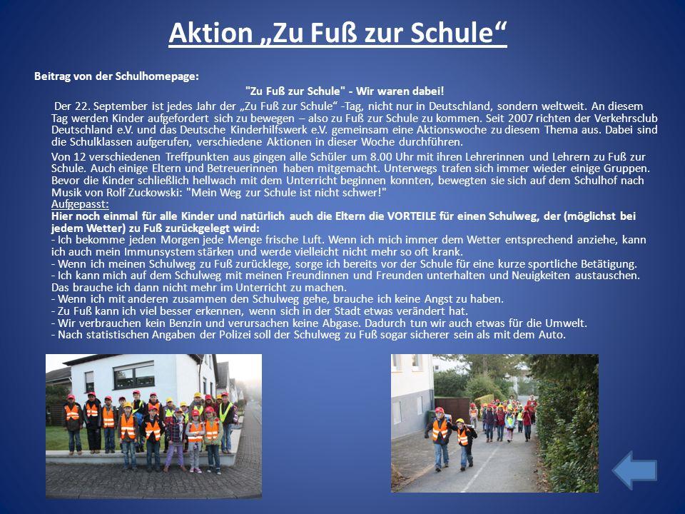 """Aktion """"Zu Fuß zur Schule"""