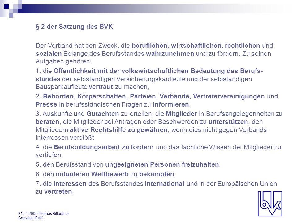 § 2 der Satzung des BVK