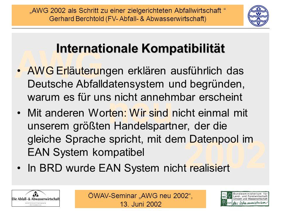 Internationale Kompatibilität