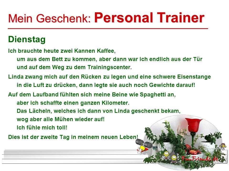 Mein Geschenk: Personal Trainer