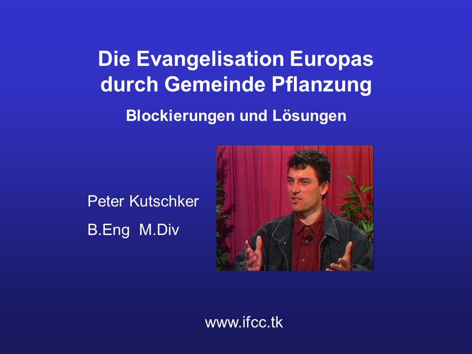 Die Evangelisation Europas durch Gemeinde Pflanzung