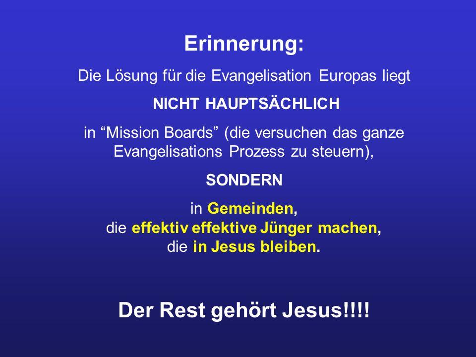Die Lösung für die Evangelisation Europas liegt